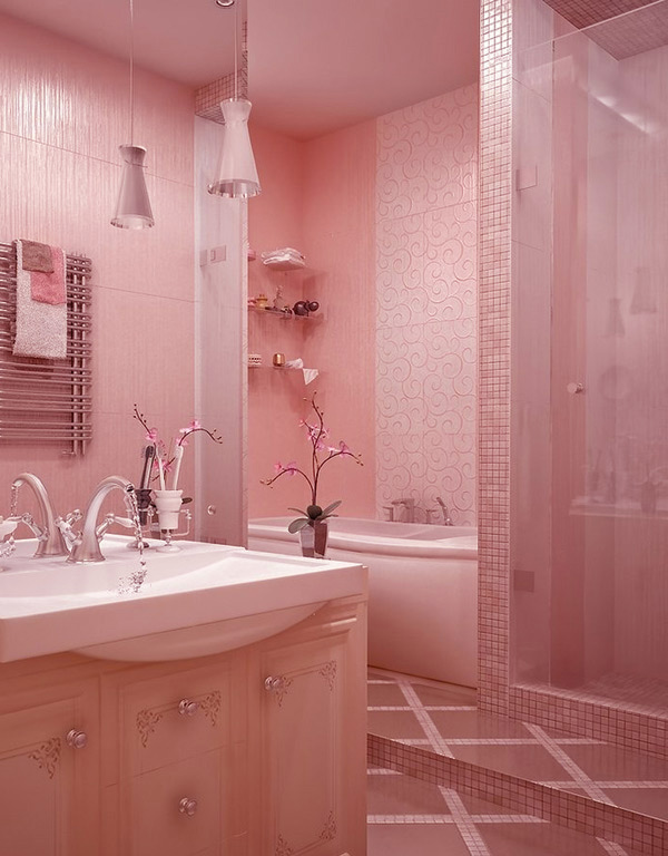 15 Chic and Pretty Pink Bathroom Designs | Home Design Lover