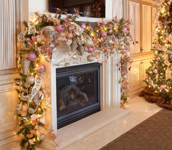 christmas fireplace designs