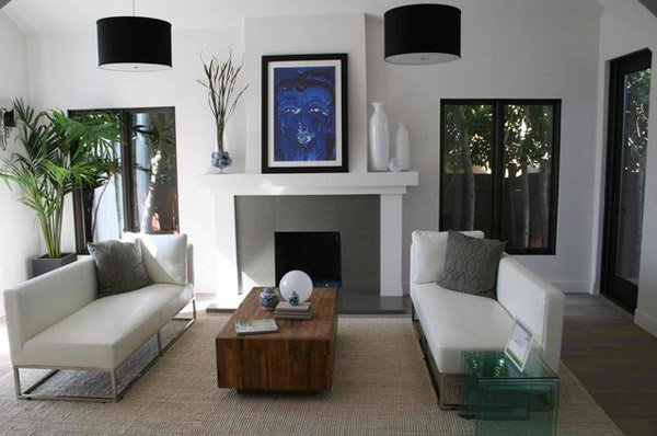 15 minimalist living room spaces home design lover for Contemporary minimalist spaces