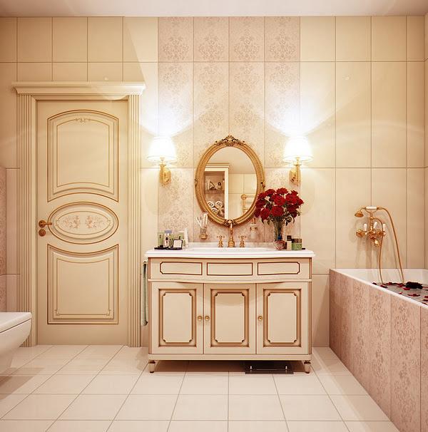 Gold Toned Bathroom