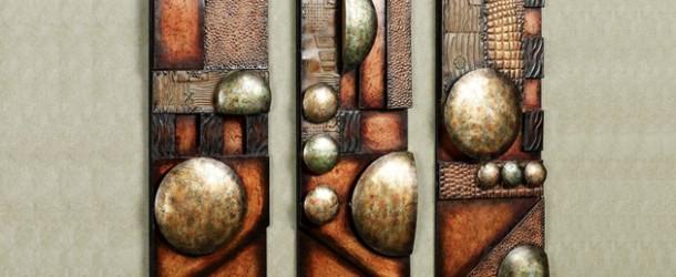 abstract metal wall art sculpture
