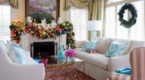 15 Beautifully Adorned Fireplaces for the Christmas Season