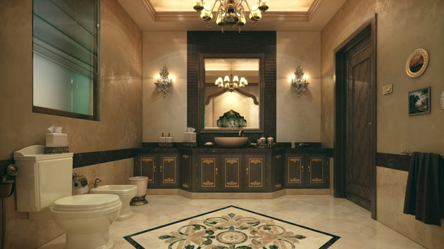 20 Luxurious and Comfortable Classic Bathroom Designs  : classic bathroom design from homedesignlover.com size 630 x 354 jpeg 94kB