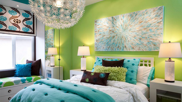 15 refreshing green bedroom designs home design lover for Green bedroom design
