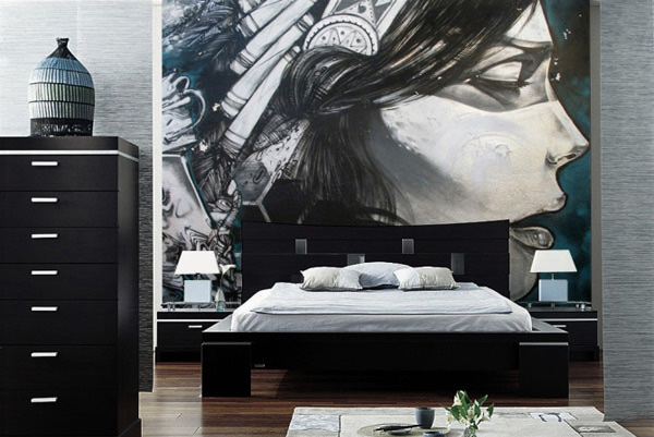 15 Wonderfully Designed Mural Wallpapers in the Bedroom ...