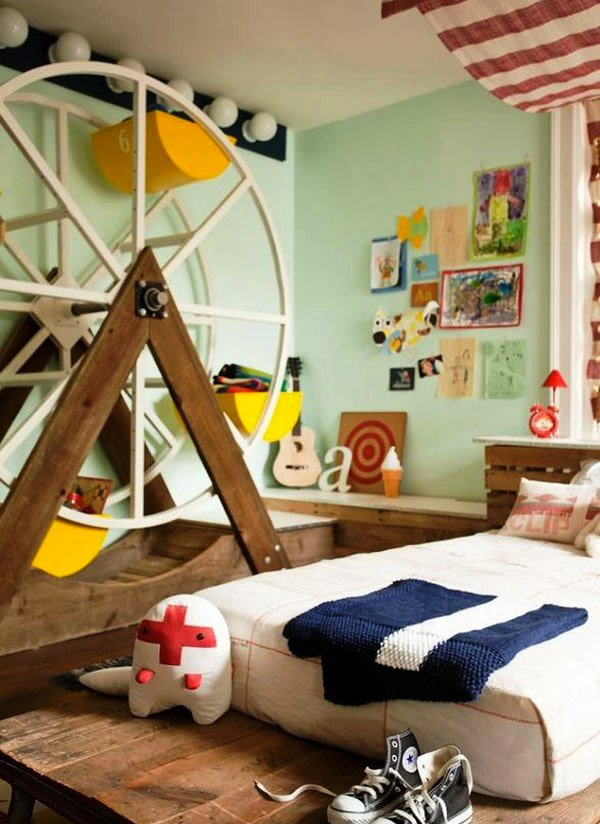 15 boys themed bedroom designs home design lover for Bedroom ideas for book lovers