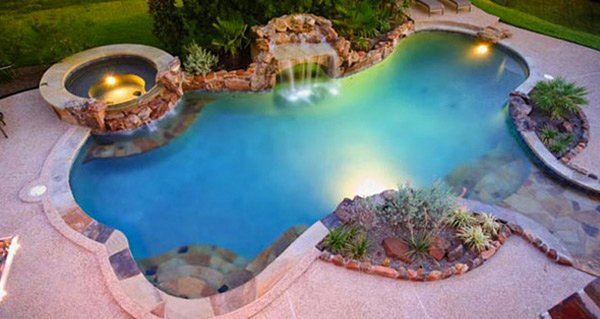 15 Fabulous Swimming Pool with Spa Designs | Home Design Lover
