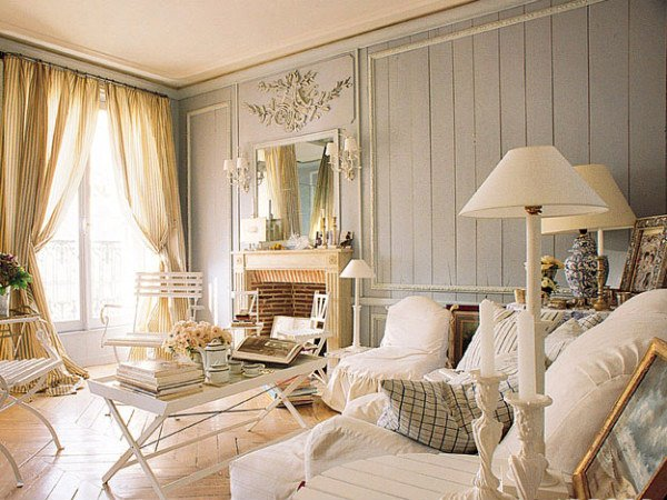 Distressed Yet Pretty White Shabby Chic Living Rooms Home Design Lover