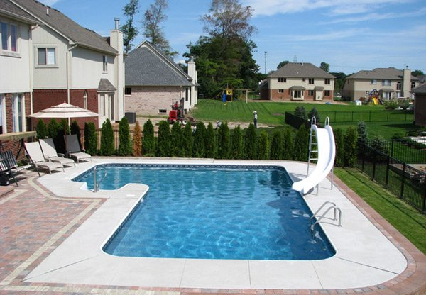 15 lazy l swimming pool designs home design lover for Quality pool design