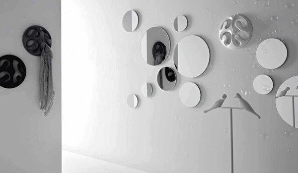Modern Bubble Art Mirror