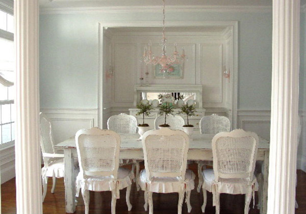 15 pretty and charming shabby chic dining rooms | home design lover