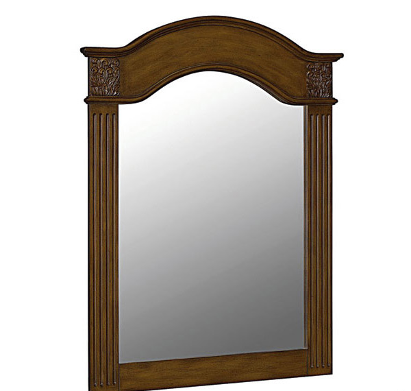 Brown Wooden Mirror
