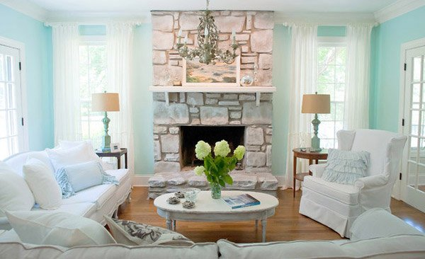 Distressed Yet Pretty White Shabby Chic Living Rooms Home Design