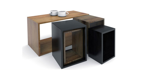 Box with modern table center