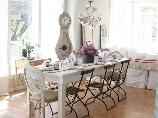 shabby chic dining table decorations home interior design