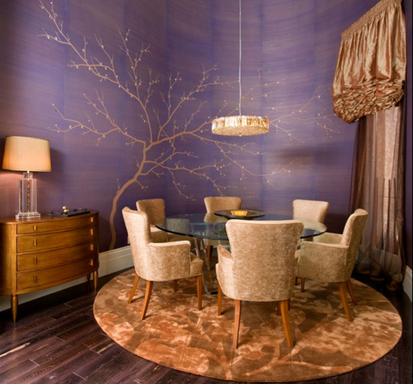 20 Conventional Dining Rooms with Wallpaper Murals | Home Design Lover