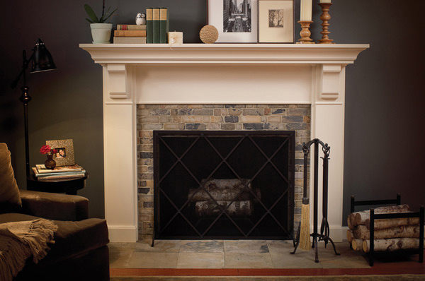 15 traditional mantel designs home design lover for Fire place mantel ideas