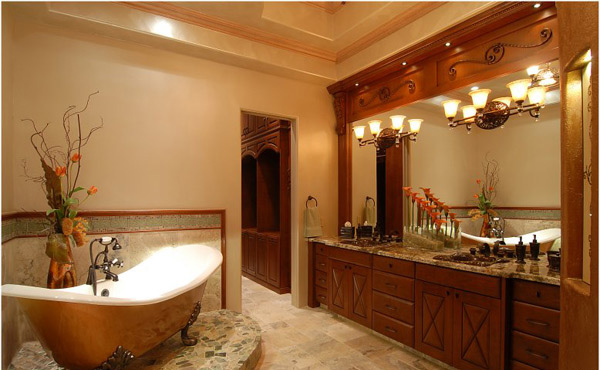 15 ultimate luxurious romantic bathroom designs home for Bathroom lighting designs