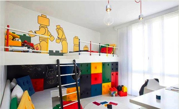 Lego themed bedroom decorating ideas