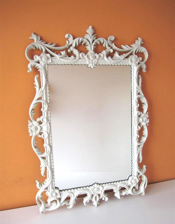 Vintage White Mirror
