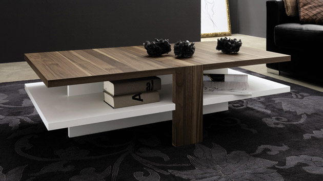 15 modern center tables made from wood home design lover. Black Bedroom Furniture Sets. Home Design Ideas
