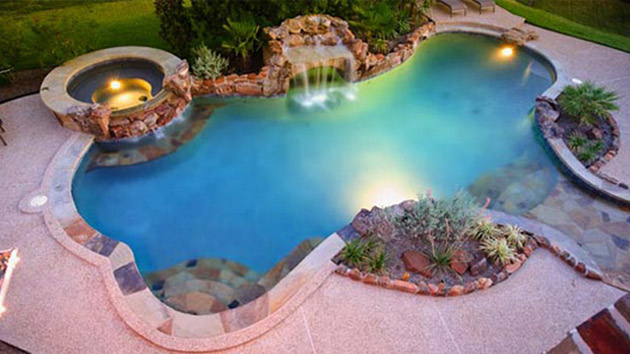 Backyard pool layouts best layout room for Swimming pool spa designs