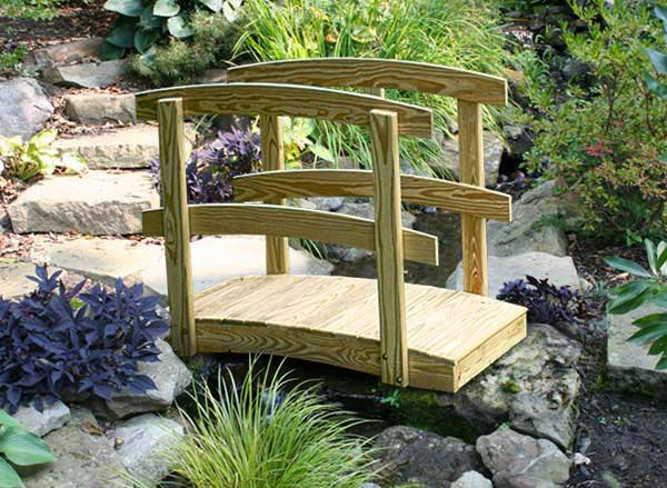 15 whimsical wooden garden bridges home design lover for Japanese garden bridge design