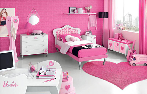 Pink Barbie Doll Teen Bedroom