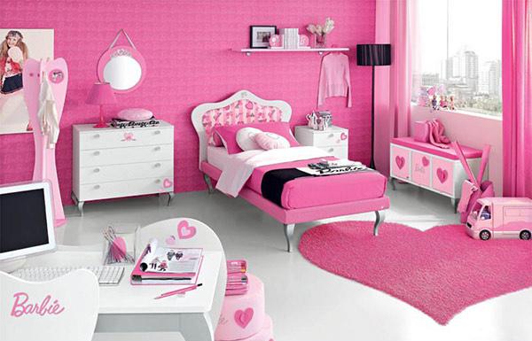 Pink Barbie Doll Teen Bedroom