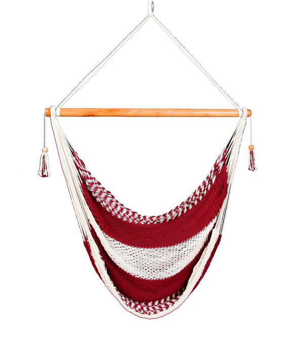 Red & White Hammock Chair