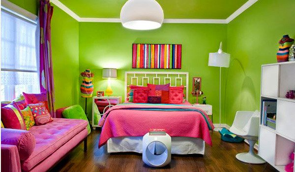 15 funky retro bedroom designs home design lover for Funky bedroom ideas