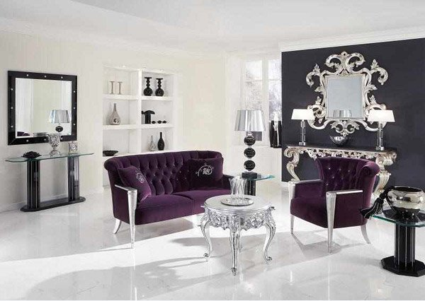 15 baroque designed living rooms home design lover for Modern baroque living room