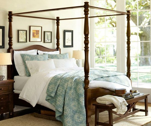 Cortona Spanish Revival Canopy Bed
