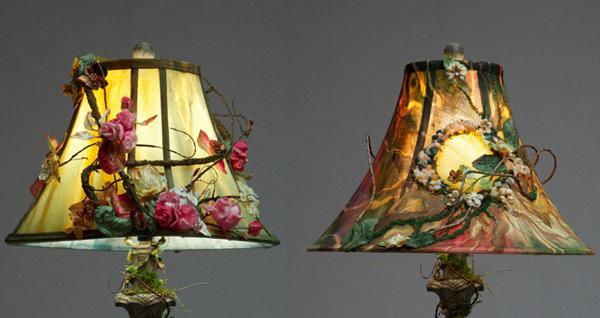 handpainted lamp shade