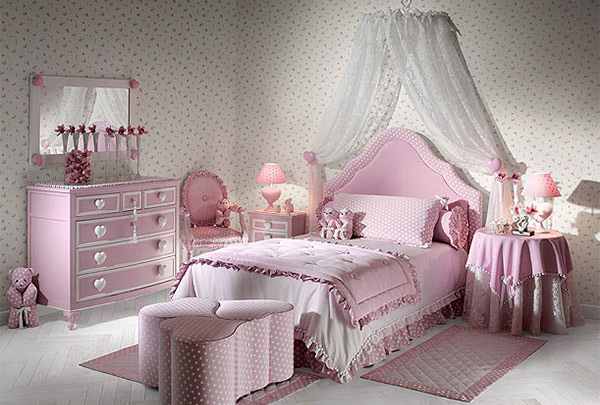 Pink Hearts Bedroom