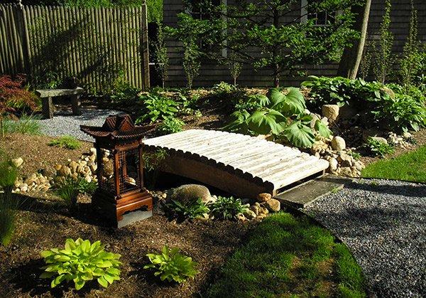 garden email save photo wooden japanese bridge