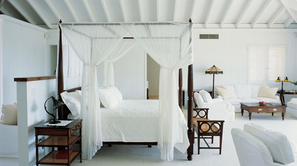 Bedroom Canopy Bed White