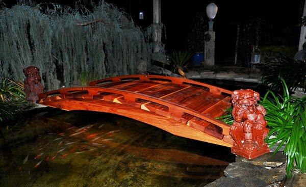 Red Japanese Garden Bridge 15 japanese inspired garden bridges | home design lover