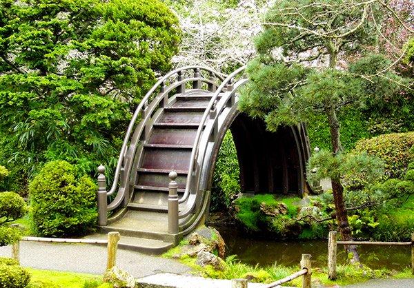 Japanese Inspired Garden Bridges