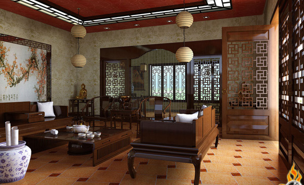 15 living room interiors for chinese new year home for Chinese home designs