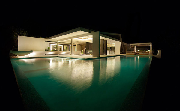 Celadon Villa Pools at Night 3