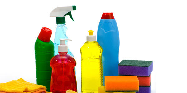 Allocate place for cleaning materials