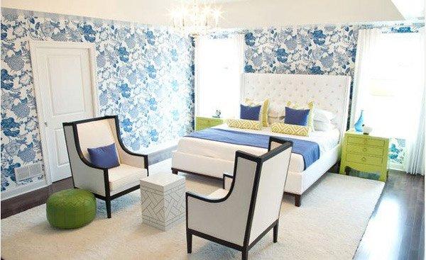blueish bedroom