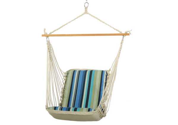 Pawleys Island Single Cushioned Swing (Beaches Stripe)