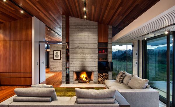Wairau Valley House Living Room