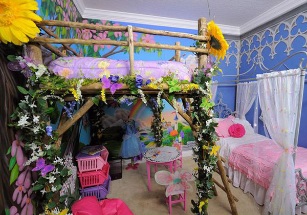 cinderella and tinkerbell bedroom