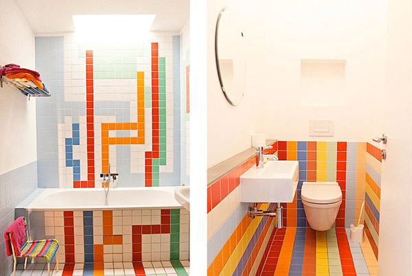 15 lively multi colored bathroom designs home design lover - Faience salle de bain enfant ...