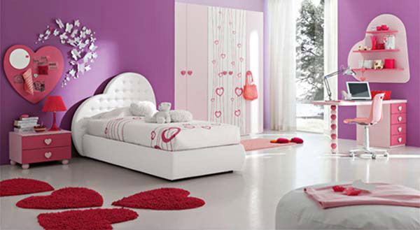 Pink Bedroom Hearts
