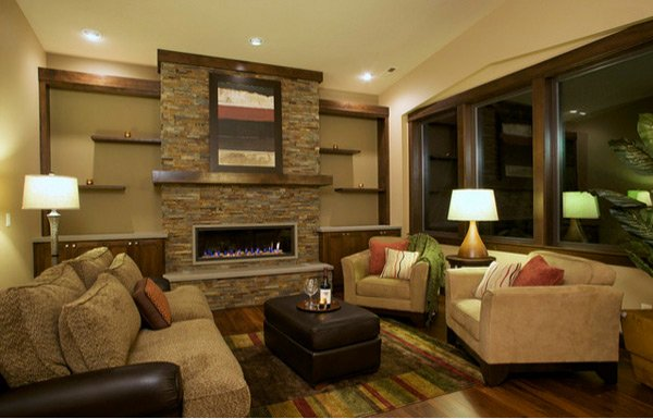 Earth tone wall colors for living room 2017 2018 best for Family sitting room ideas