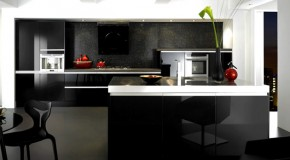 15 Black and Gray High Gloss Kitchen Designs